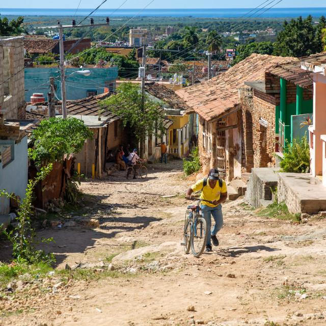 """""""Street in Trinidad III"""" stock image"""