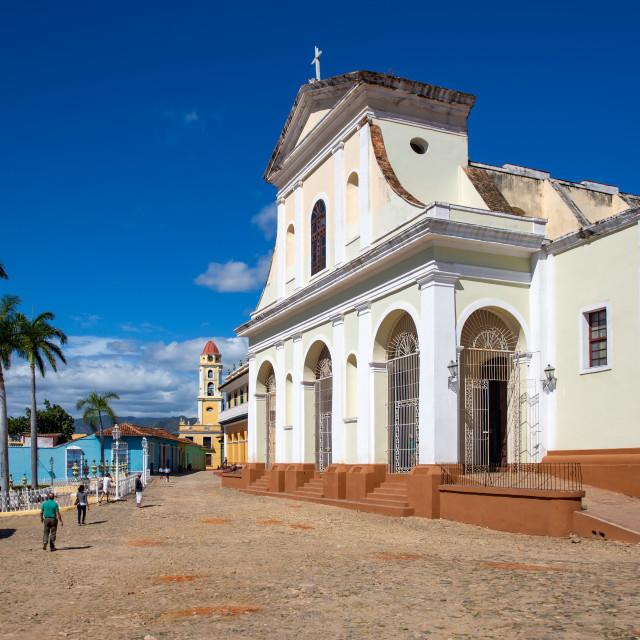 """""""Church on Plaza Mayor I"""" stock image"""