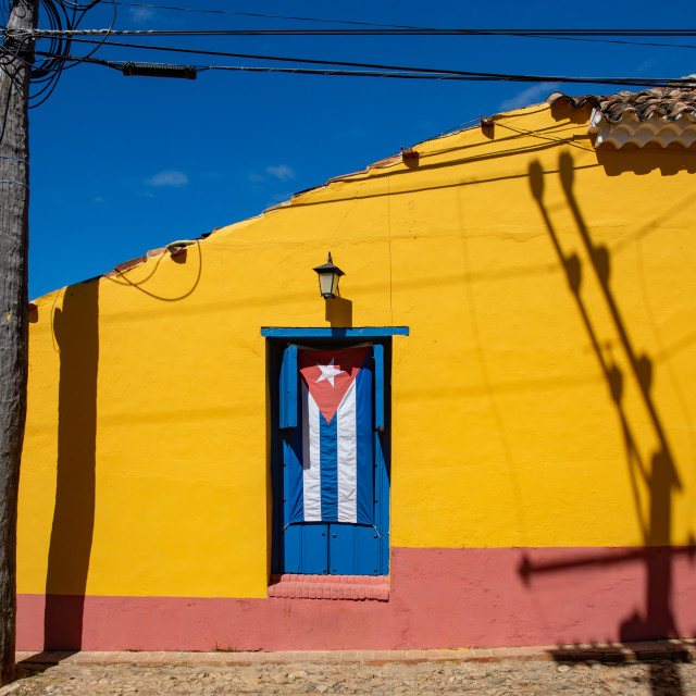 """""""Yellow House in Trinidad"""" stock image"""
