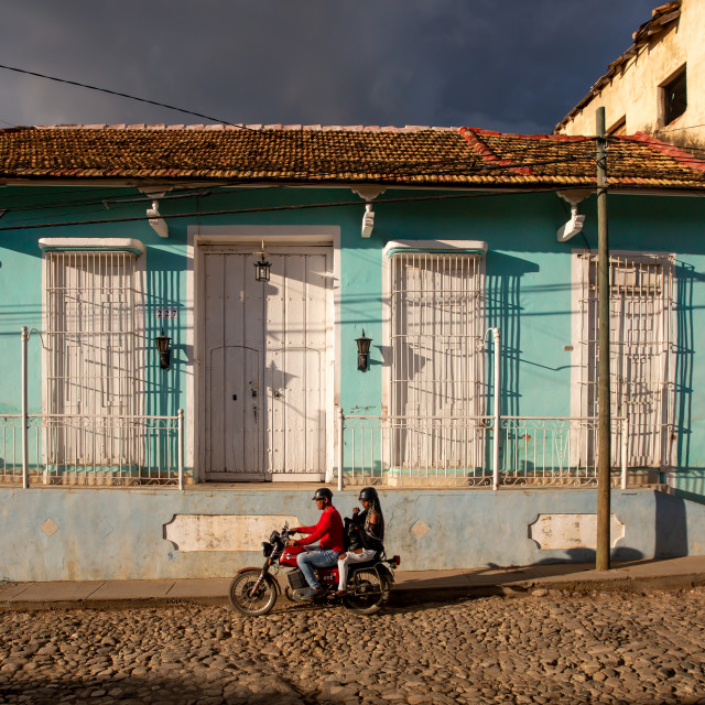 """Motorbike in Trinidad II"" stock image"