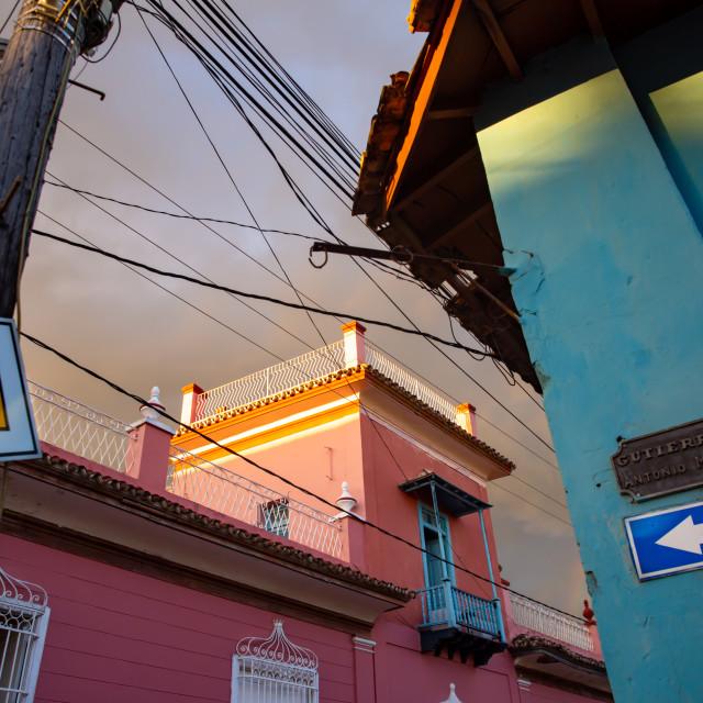 """Corner in Trinidad"" stock image"