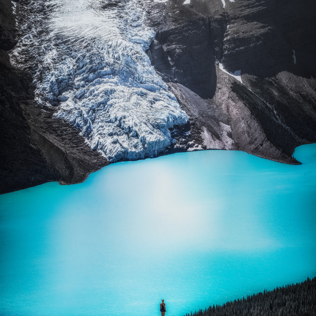 """Berg Lake"" stock image"