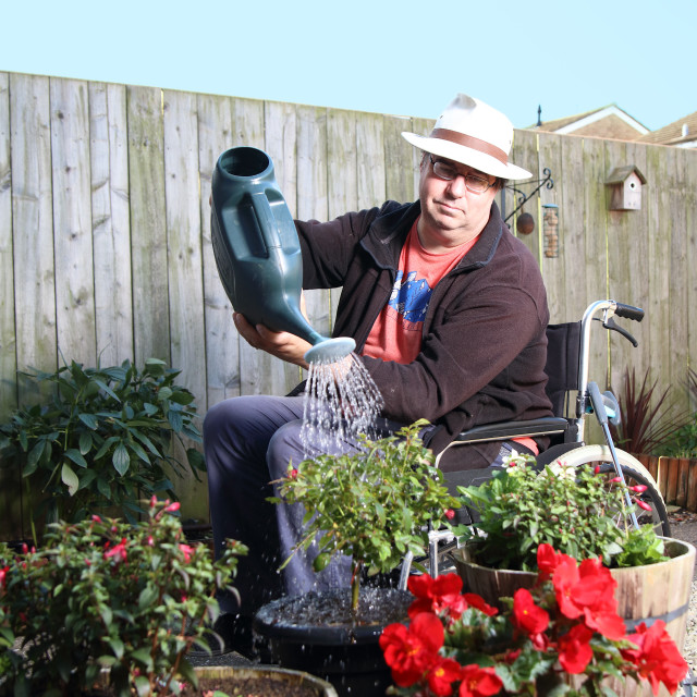 """Disabled Gardener"" stock image"