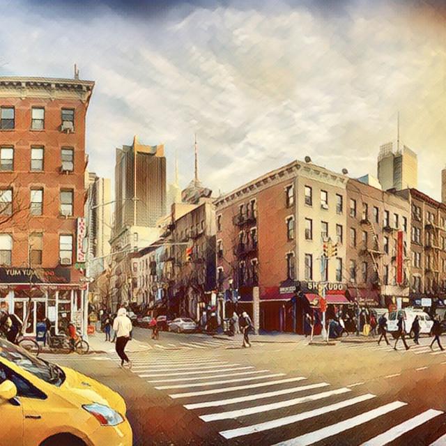 """New York Impressions"" stock image"