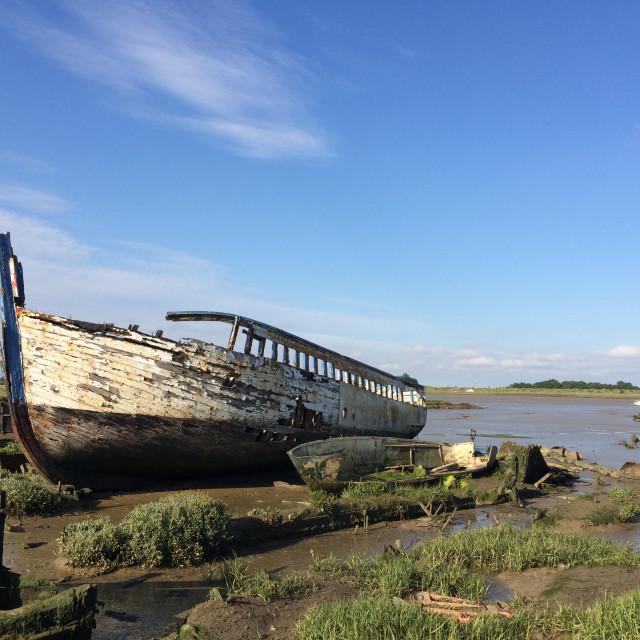 """Maldon Shipwreck"" stock image"