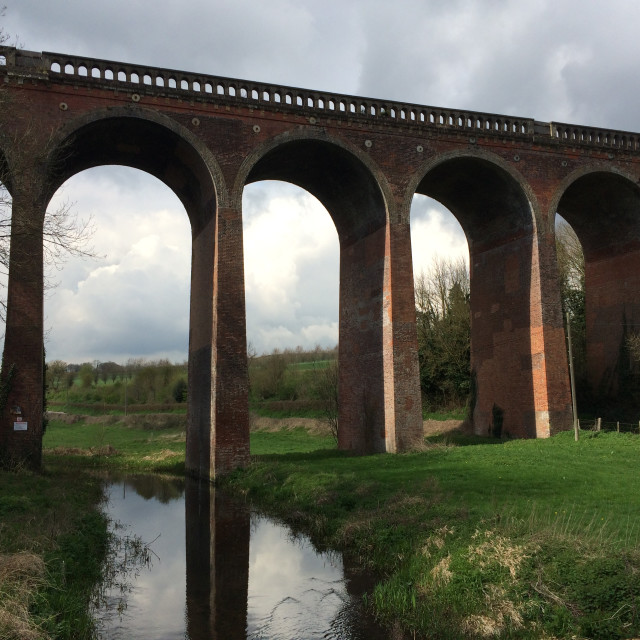 """Eynsford Railway Viaduct"" stock image"