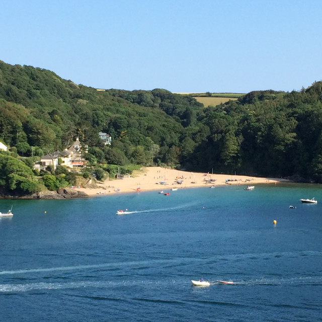 """Mill Bay, Salcombe"" stock image"