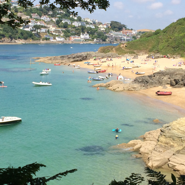"""Sunny Cove, Salcombe"" stock image"