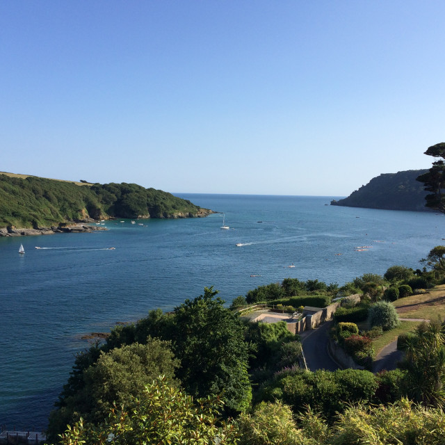 """Salcombe Estuary"" stock image"