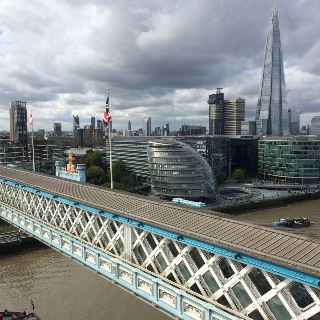 """Top of Tower Bridge"" stock image"