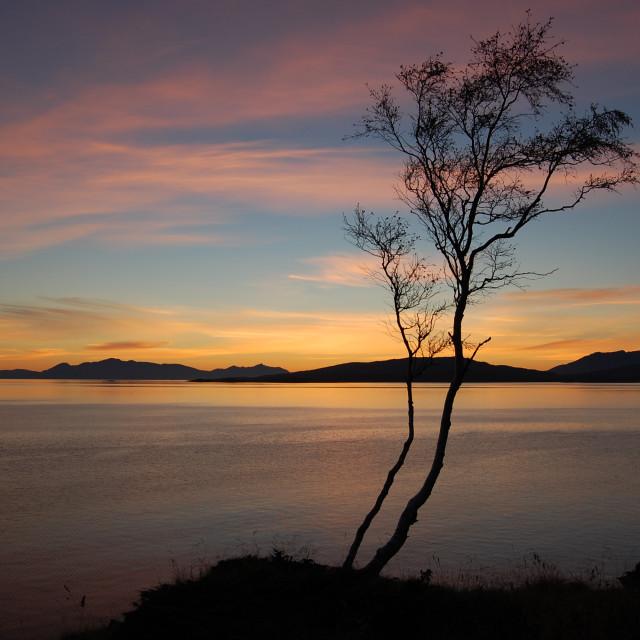 """""""Norwegian Sunset"""" stock image"""