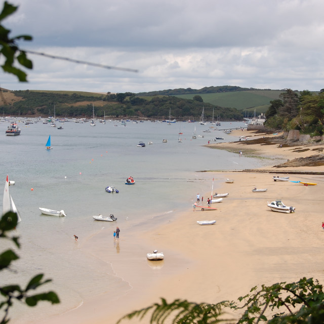 """Mill Cove, Salcombe"" stock image"