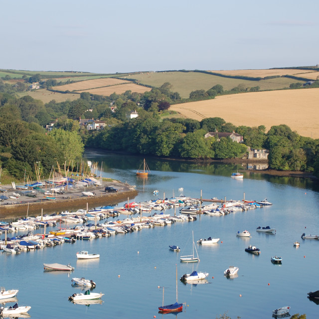 """Batson Creek, Salcombe"" stock image"