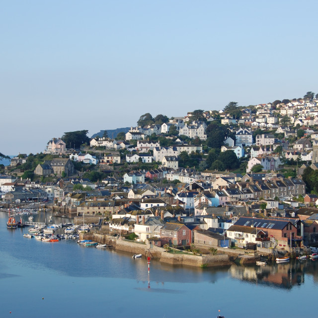 """Salcombe at Dawn (2)"" stock image"