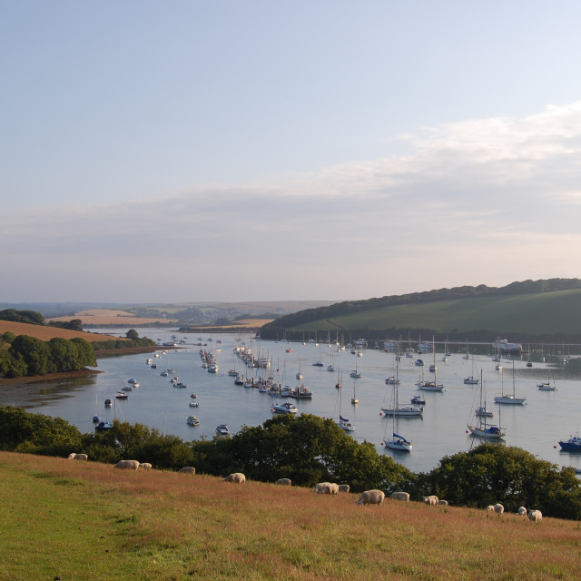 """The Bag - Salcombe"" stock image"