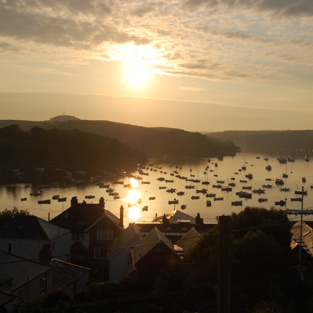 """Sunrise over Salcombe"" stock image"
