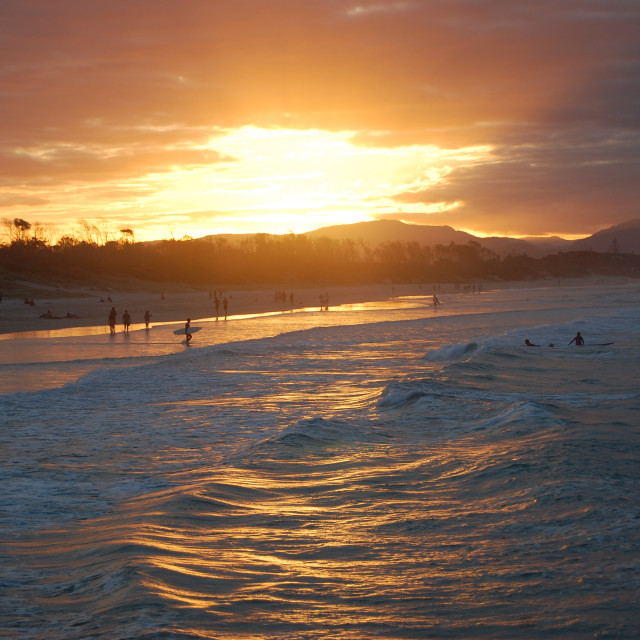 """Byron Bay Sunset"" stock image"