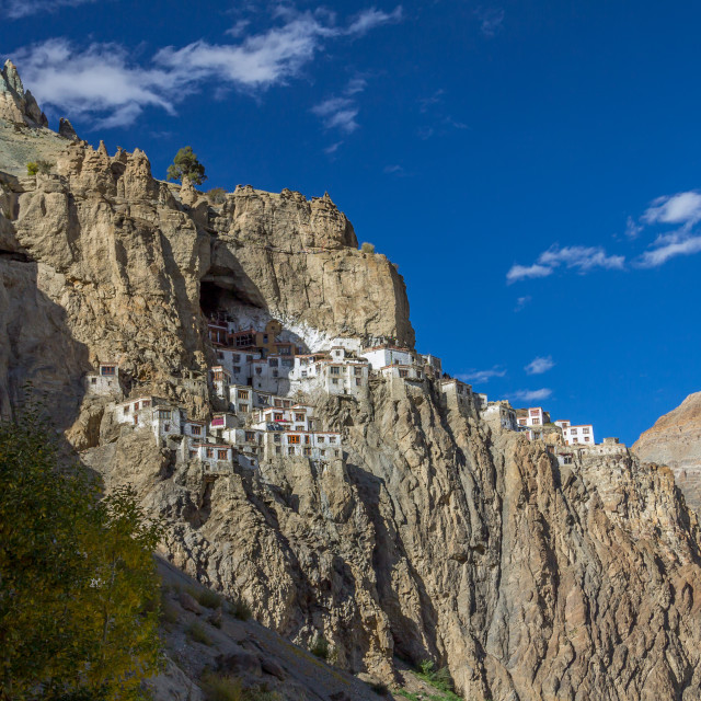 """Spectacularly located Phugtal Gompa, Ladakh"" stock image"