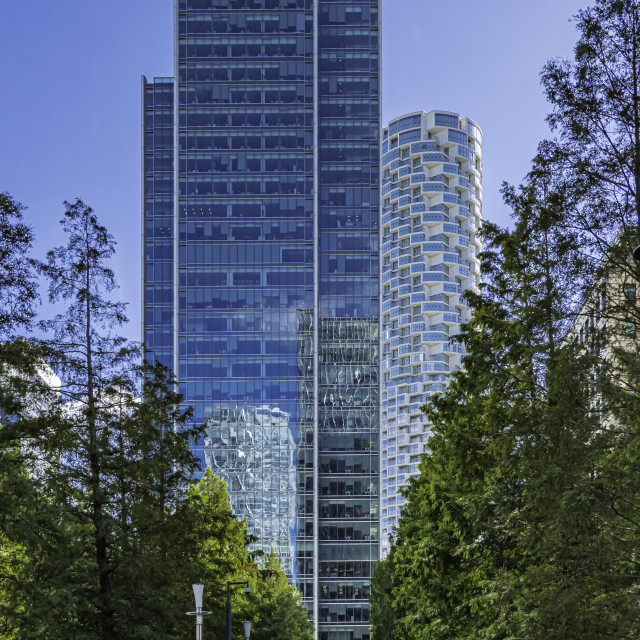"""""""Offices in Canary Wharf, London"""" stock image"""