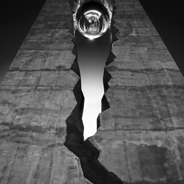 """""""Tear Tower 9/11 Memorial in Black and White"""" stock image"""