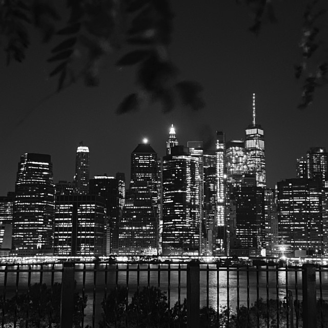 """Manhattan view from Brooklyn Promenade, 2020 NY"" stock image"