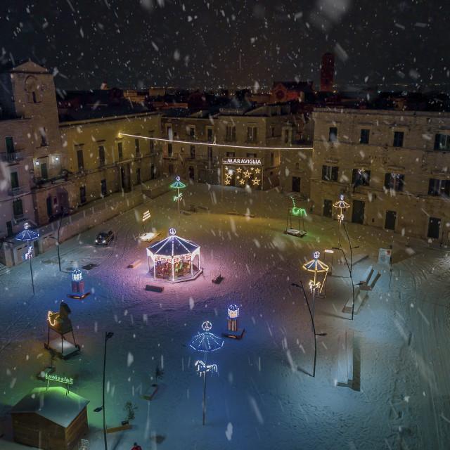 """Christmas - Italian town"" stock image"
