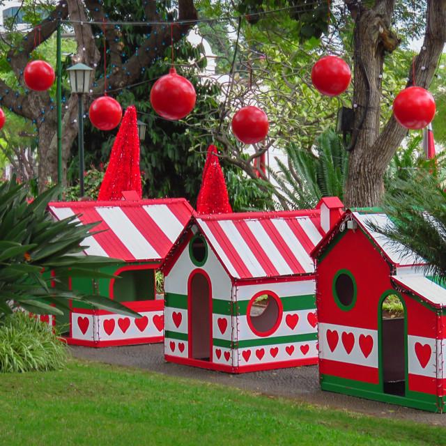 """""""Christmas houses"""" stock image"""