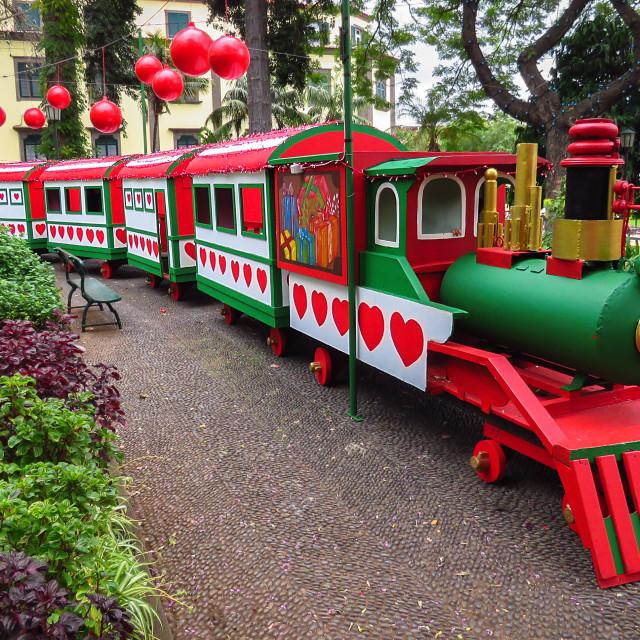 """""""Christmas train"""" stock image"""