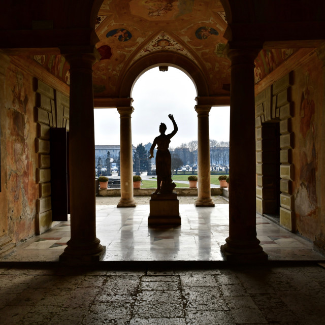 """Villa Contarini opens up to the city"" stock image"