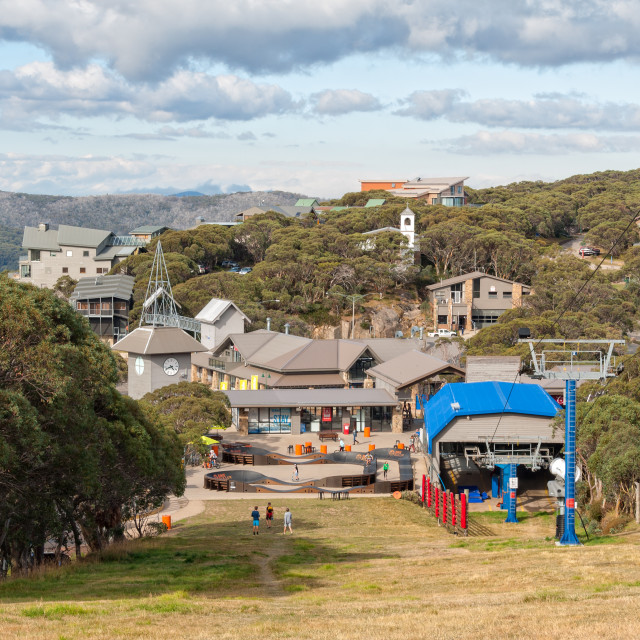 """Resort Village - Mt Buller"" stock image"