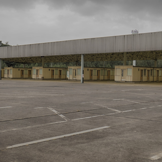 """Memorial site at Helmstedt–Marienborn border crossing, former"" stock image"