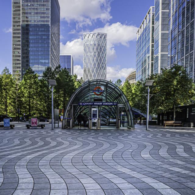 """""""London - Canary Wharf Underground Entrance"""" stock image"""