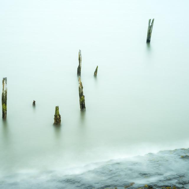 """Lindisfarne Posts"" stock image"