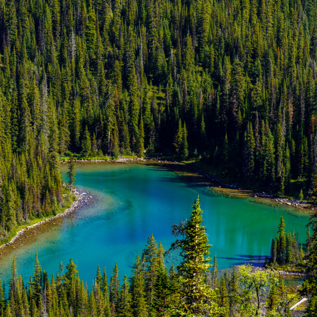 """""""Lakes of the Rockies"""" stock image"""