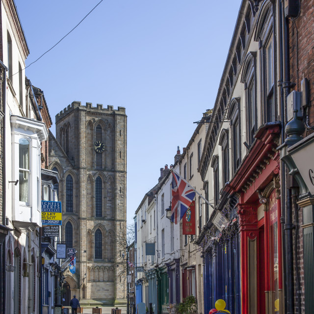 """Kirkgate, Ripon, North Yorkshire, England"" stock image"