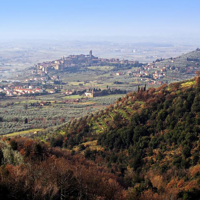"""""""Castiglion Fiorentino view"""" stock image"""