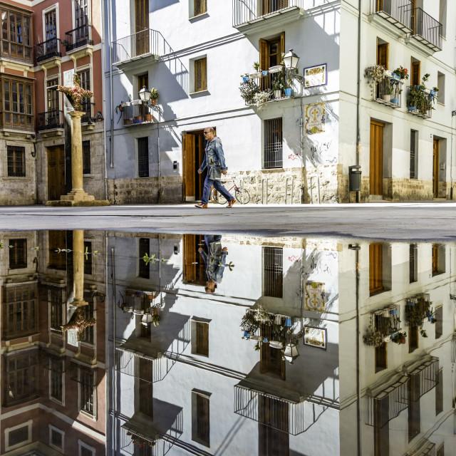 """Urban reflections"" stock image"