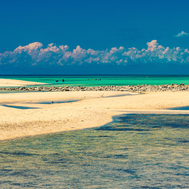 """Low Tide At The Beaches of Bantayan - The Philippines, Asia"" stock image"