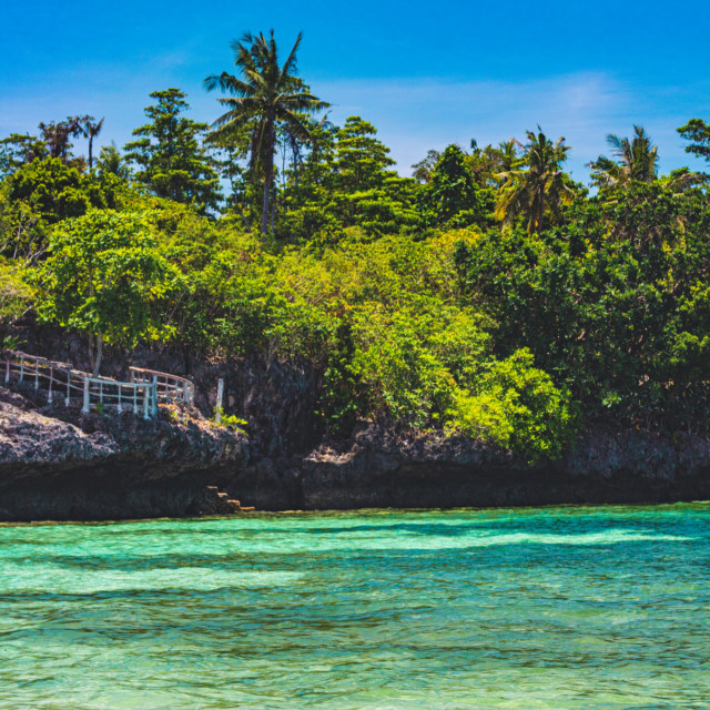 """Crystal Clear Ocean Water Beside The Jungles of Camotes - Philippines, Asia"" stock image"