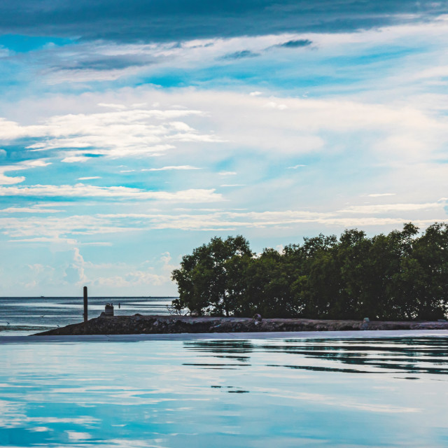 """The Infinity Pool View At Pacific Resort In Cebu - Philippines, Asia"" stock image"