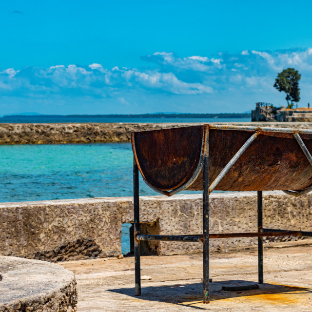 """An Abandoned BBQ At The Oceans of Camotes - Philippines, Asia"" stock image"