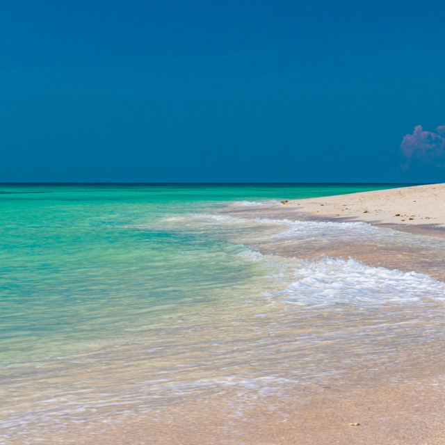 """Clear, Aqua Coloured Waters of Bantayan's Ocean. Philippines, Asia"" stock image"