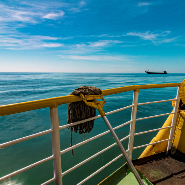 """The Ferry Heading To Camotes - Philippines Asia"" stock image"