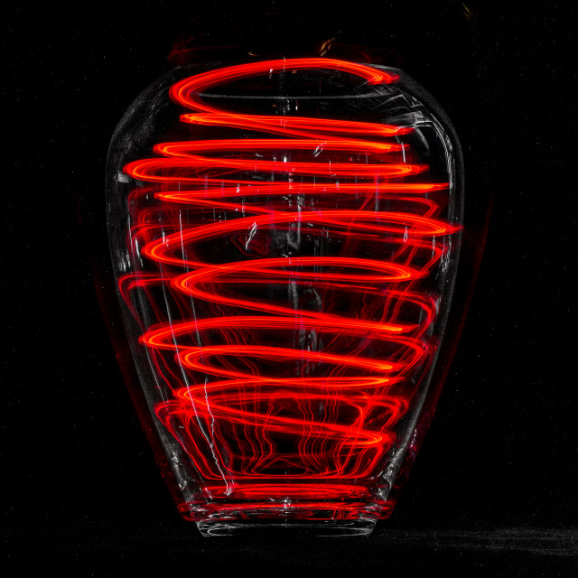 """""""Light trails in a jar #1"""" stock image"""