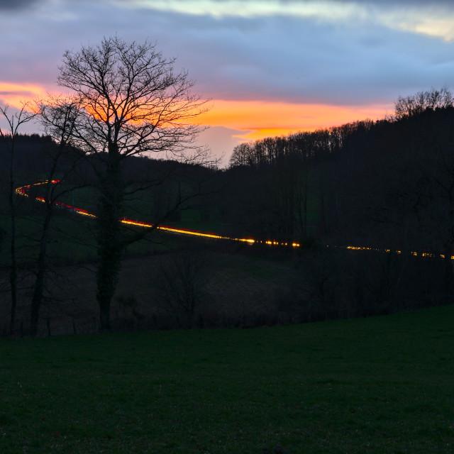 """Light Trails"" stock image"