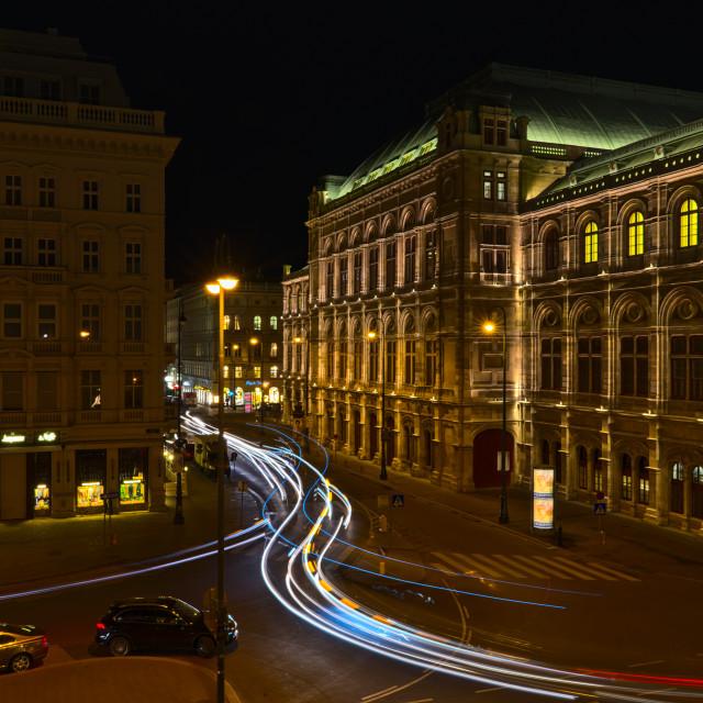 """""""Wiener Staatsoper"""" stock image"""