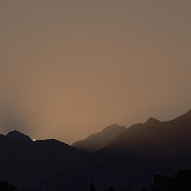 """""""Chugach Sunrise"""" stock image"""