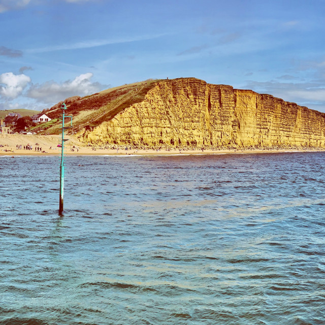 """West Bay Cliffs"" stock image"