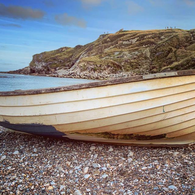 """Lulworth Boat"" stock image"