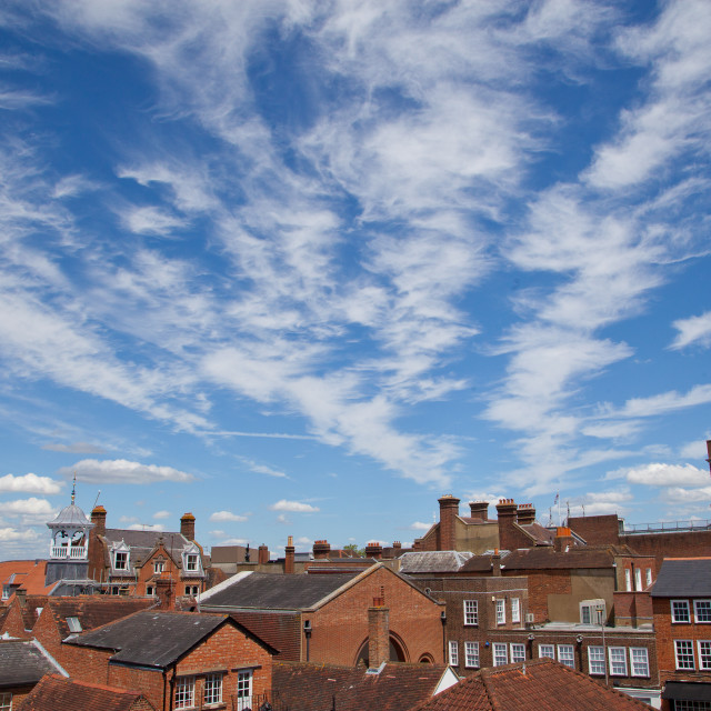 """Rooftops in Guildford"" stock image"